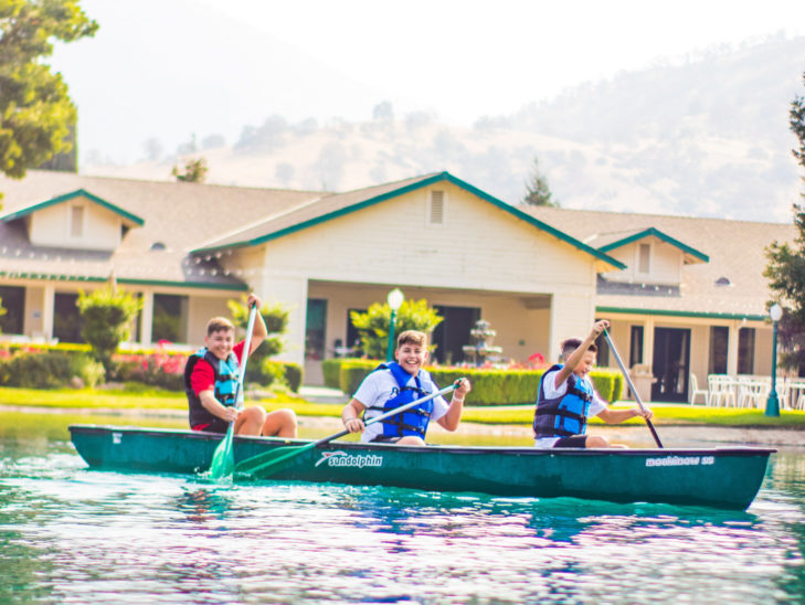 Campers canoeing.