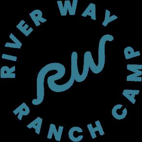 River Way Ranch Camp Logo Blue
