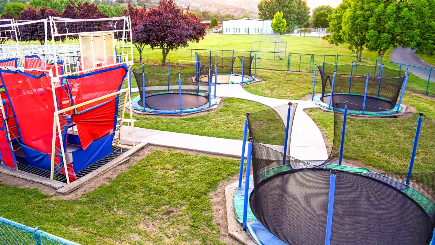 A trampoline area of the camp.