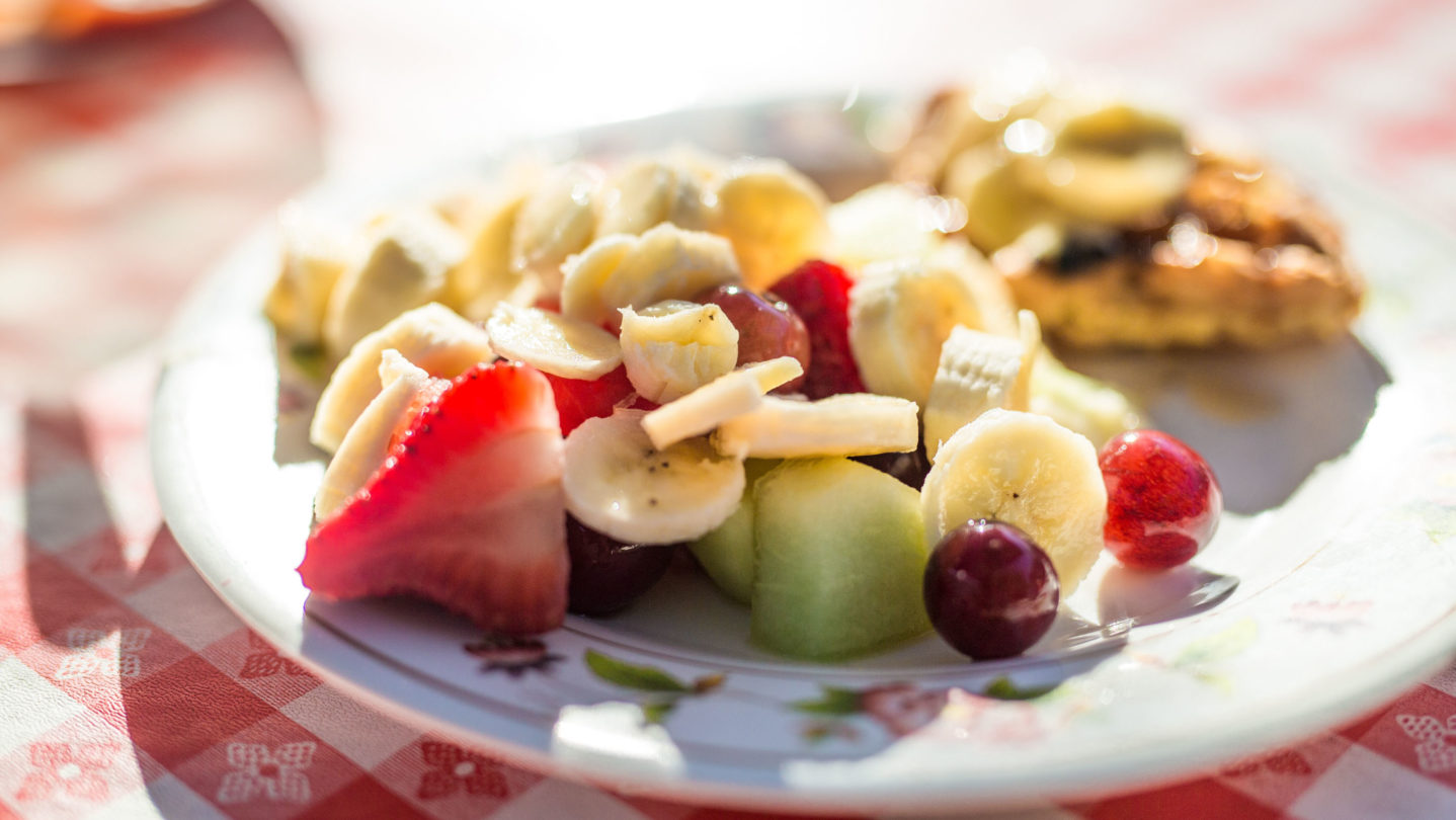 Fruit on a plate.