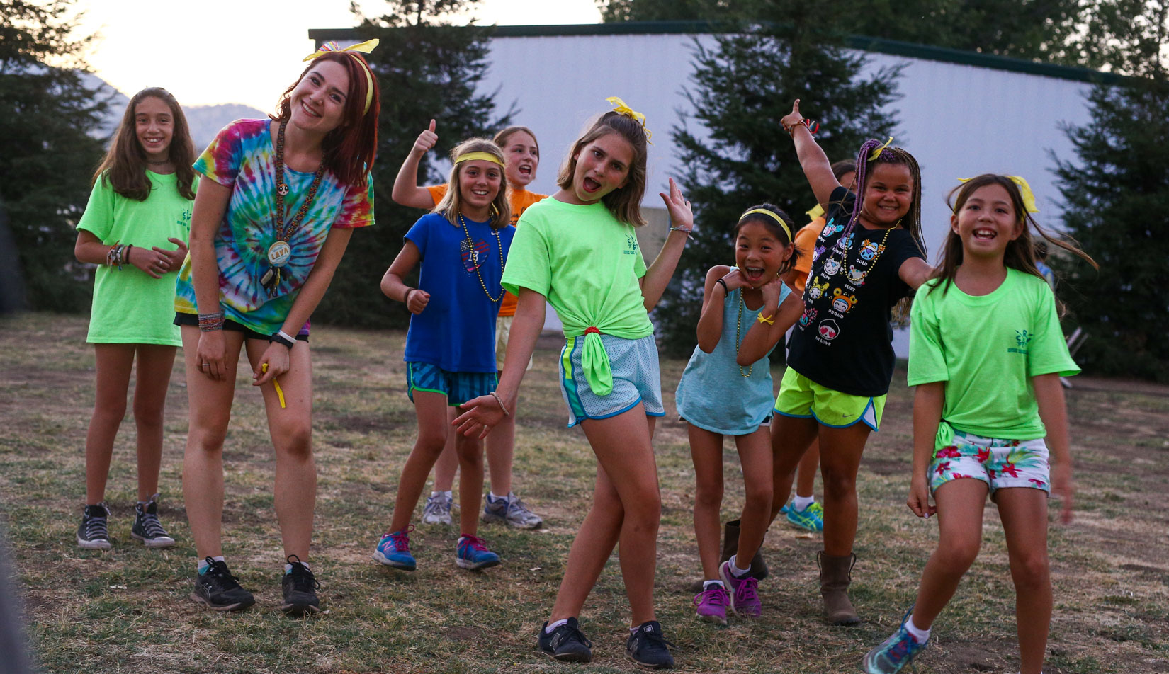Campers posing for the camera