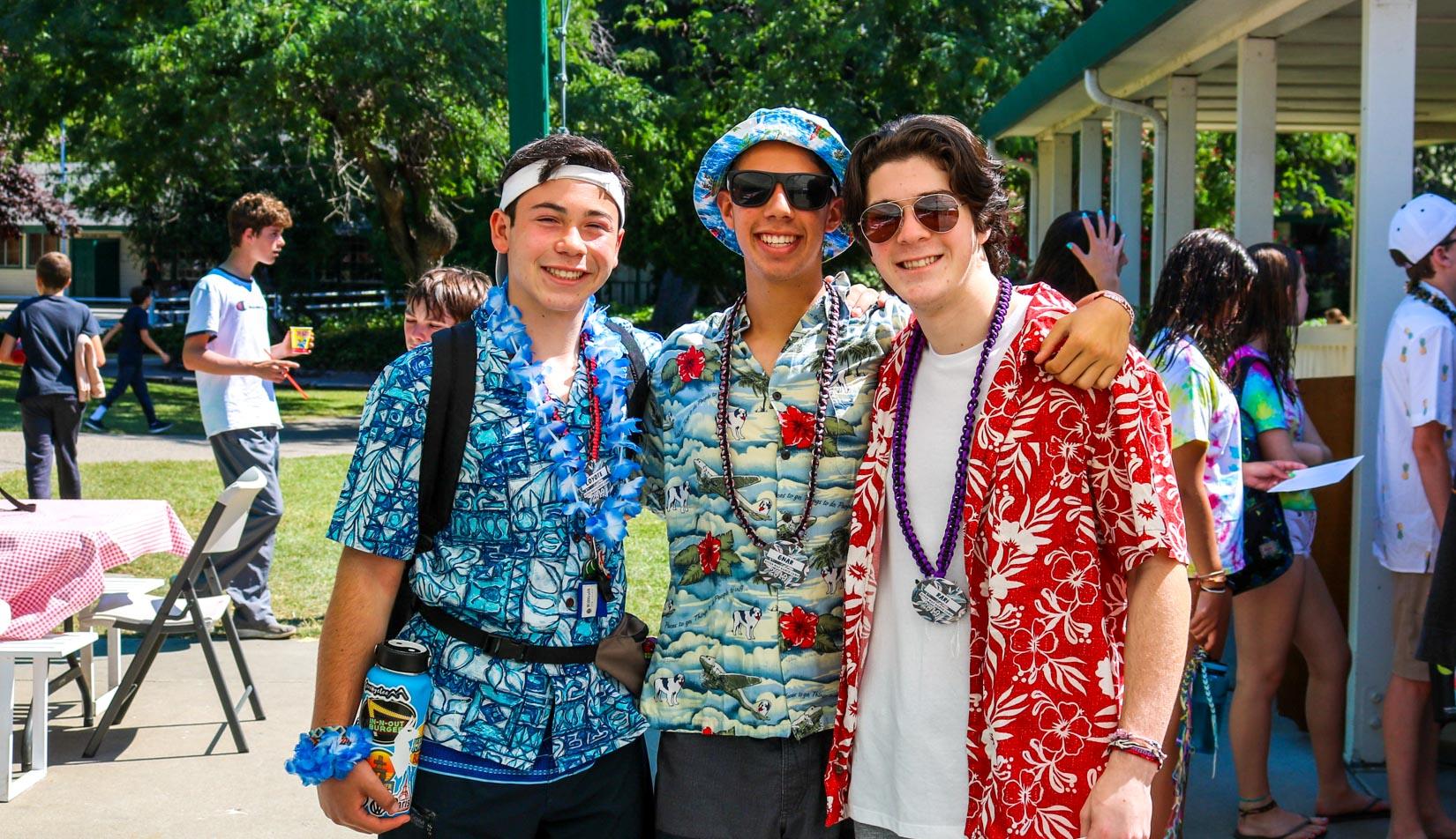 CITs dressed up in hawaiian print shirts